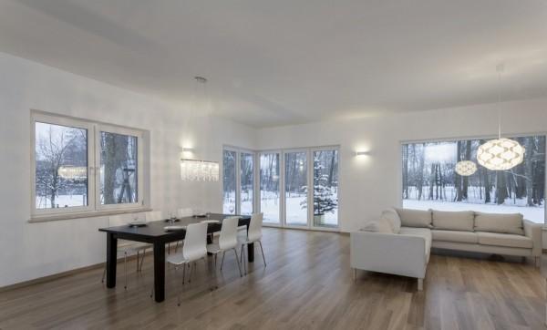 Parkett Landhausdiele Eiche Finnland, Markant, weiß UV geölt, 14 x 155 x 2200 mm, Soft Lock Klick Verbindung