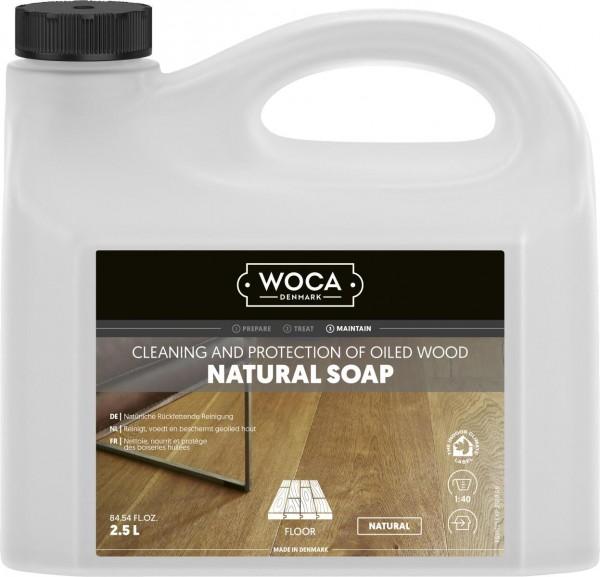 WOCA Holzbodenseife Natur, Kanister mit 2,5 Liter, zur regelmäßigen Reinigung geölter Holzböden
