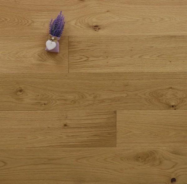 Eiche Landhausdiele Dublin, Markant, gebürstet, geölt, 14 x 180 x 1800 mm, Soft Loc Klick Verbindung