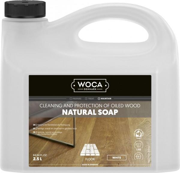 WOCA Holzbodenseife weiß, Kanister mit 2,5 Liter, zur regelmäßigen Reinigung weiß geölter Holzböden