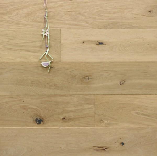 Parkett Landhausdiele Eiche Apt aus der Serie Provence, mit WOCA spezial Neutralöl in Rohholzoptik geölt, 14 x 190 (220) x 1900 (2200) mm, Välinge 5G Klick Verbindung, Sonderanfertigung nach Kundenwunsch