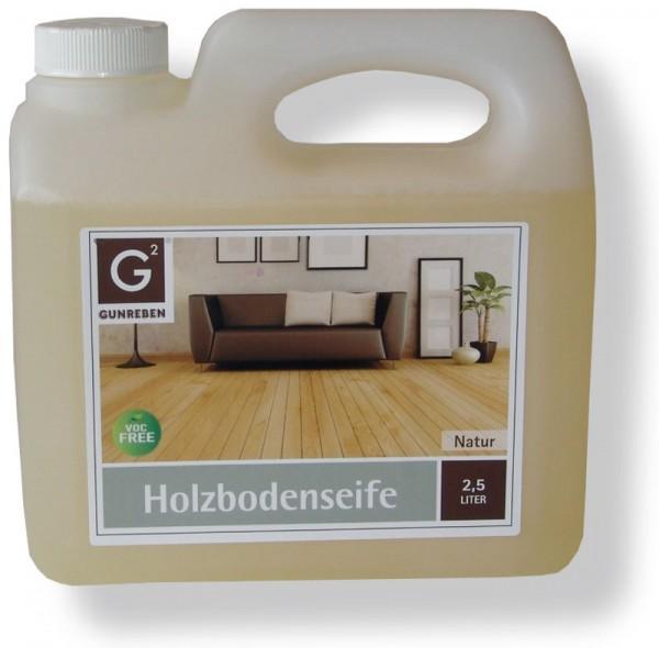 Gunreben Holzbodenseife natur, Kanister mit 2,5 Liter, zur regelmäßigen Reinigung geölter Holzböden