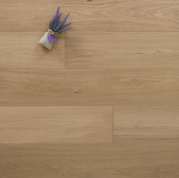 Parkett Landhausdiele Eiche Harmonie aus der Serie Villa, Select, mit einem Naturöl leicht weiß geölt, 14 x 190 x 1900 mm, Drop Down Klick Verbindung, Sonderanfertigung