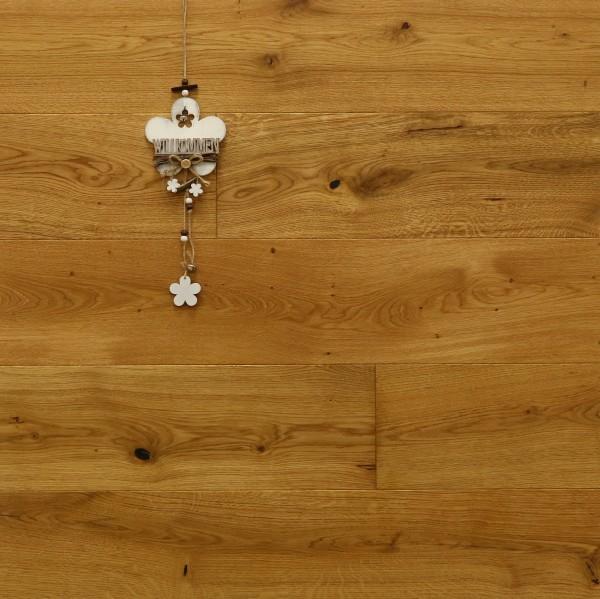 Eiche Landhausdiele Varages aus der Serie Provence, gebürstet, mit Rubio Monocoat R101 geölt, 14 x 190 (220) x 1900 (2200) mm, Välinge 5G Klick Verbindung, Sonderanfertigung nach Kundenwunsch