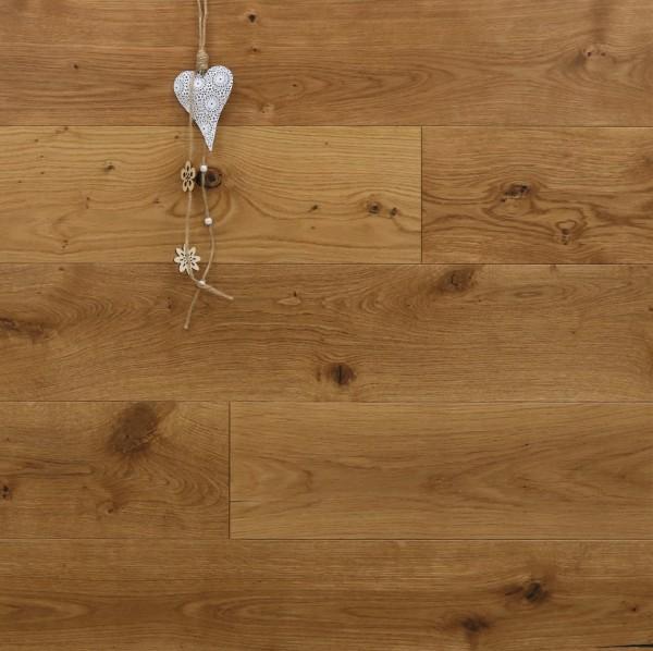 Parkett Landhausdiele Eiche Marne aus der Serie Provence, gebürstet, matt lackiert, 14 x 190 (220) x 1900 (2200) mm, Välinge 5G Klick Verbindung, Sonderanfertigung nach Kundenwunsch