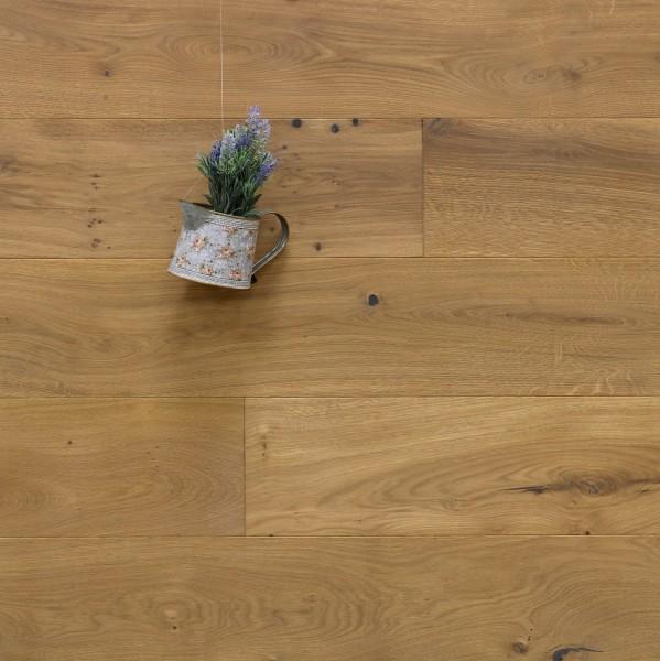 Eiche Landhausdiele Brignoles aus der Serie Provence, gebürstet, mit Rubio Monocoat R331a bzw. 5% Weißanteil geölt, 14 x 190 (220) x 1900 (2200) mm, Välinge 5G Klick Verbindung, Sonderanfertigung nach Kundenwunsch