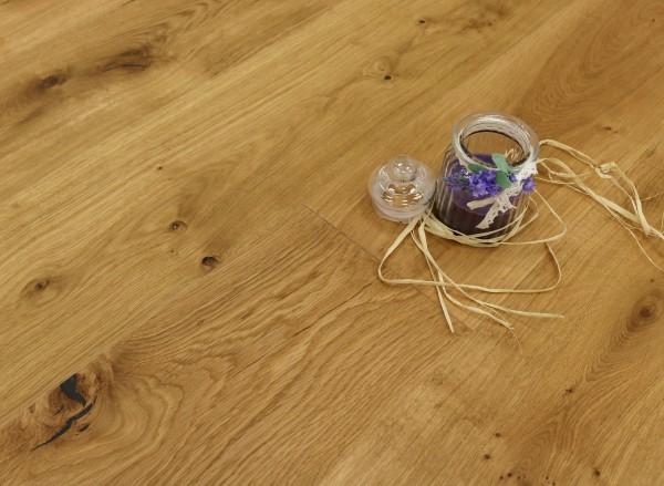 Parkett Landhausdiele Eiche Palermo aus der Serie Italia, Markant (Natur / Select), mit einem Naturöl geölt, 14 x 190 x 1900 mm, Drop Down Klick Verbindung, Sonderanfertigung nach Kundenwunsch