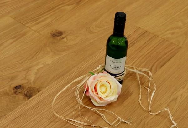 Eiche Landhausdiele Thurgau aus der Serie Vinum, Markant, gebürstet, mit Masteröl geölt, 14 x 180 x 2200 mm, Soft Lock Klick Verbindung