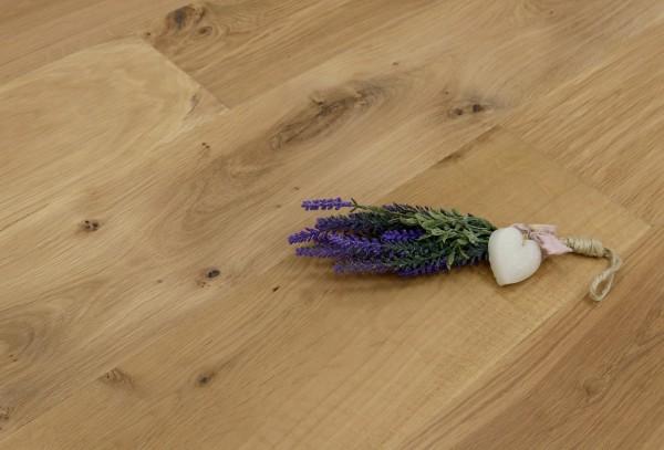 Parkett Landhausdiele Eiche Florenz aus der Serie Italia, Markant (Natur / Select), mit einem Naturöl leicht weiß geölt, 14 x 190 x 1900 mm, Drop Down Klick Verbindung, Sonderanfertigung nach Kundenwunsch