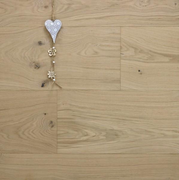 Parkett Landhausdiele Eiche Toulouse aus der Serie Chateau, Markant, roh bzw. unbehandelte Oberfläche, 20 x 320 bis 5000 mm, Nut / Feder Verbindung