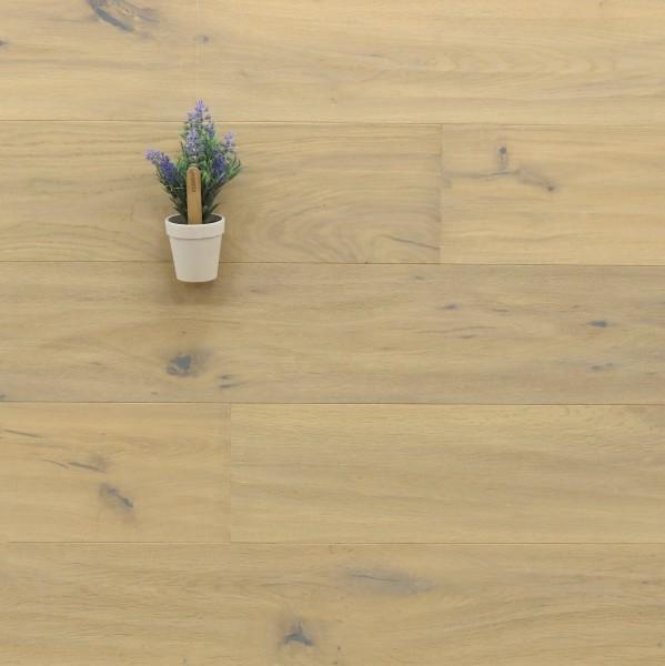 Parkett Landhausdiele Eiche Schweden, Markant, handgehobelt, mit einem Naturöl weiß geölt, 14 x 190 x 1900 mm, klassische Klick Verbindung