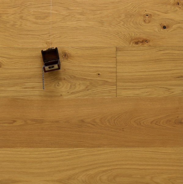 Parkett Landhausdiele Eiche Hofadel aus der Serie Palais, Markant, gebürstet, mit Masteröl geölt, 15 x 250 x 2200 mm, Nut / Feder Verbindung