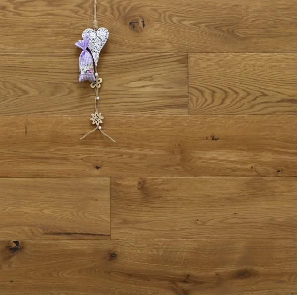 Parkett Landhausdiele Eiche Correns aus der Serie Provence, gebürstet, mit Rubio Monocoat R331a + R333 Champagne geölt, 14 x 190 (220) x 1900 (2200) mm, Välinge 5G Klick Verbindung, Sonderanfertigung nach Kundenwunsch
