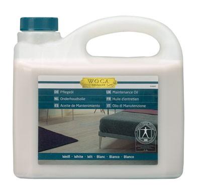 WOCA Meister Bodenöl weiß, Kanister mit 2,5 Liter, zur Ersteinpflege weiß geölter Holzböden