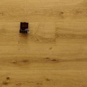 Eiche Landhausdiele König Ludwig aus der Serie Palais, Markant, gebürstet, extrem matt lackiert, 15 x 250 x 2200 mm, Nut / Feder Verbindung