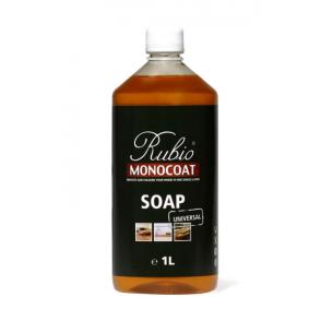 Rubio Monocoat Soap Bodenseife, Flasche mit 1,0 Liter, zur regelmäßigen Reinigung geölter Holzböden