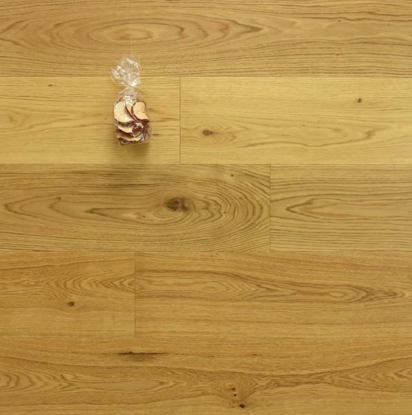 Eiche Landhausdiele Ortler aus der Serie Mountain, Markant, seidenmatt lackiert, 15 x 190 x 1900 mm, Drop Down Klick Verbindung
